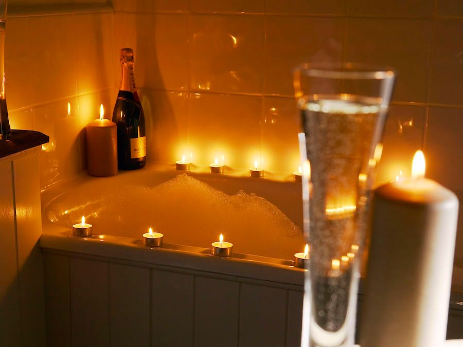 Take time away from the group and enjoy a candle lit bath