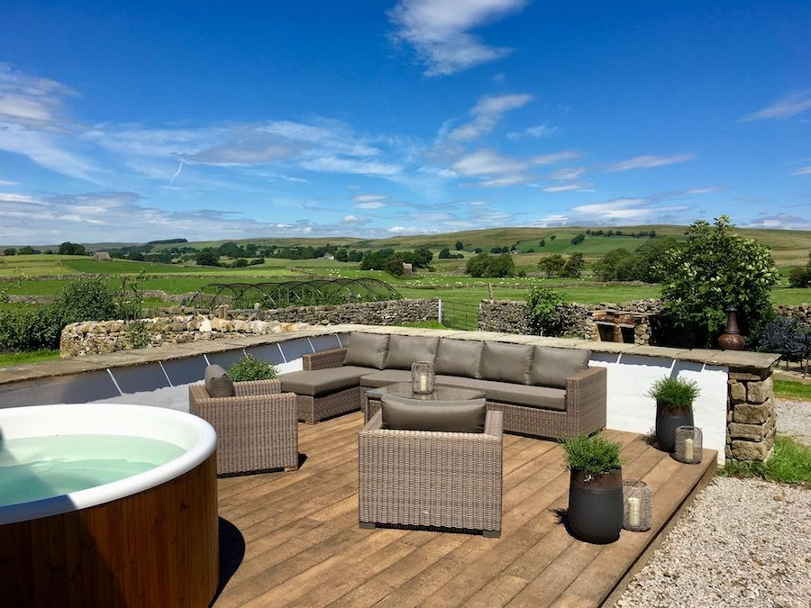 Fabulous views from the outdoor lounge