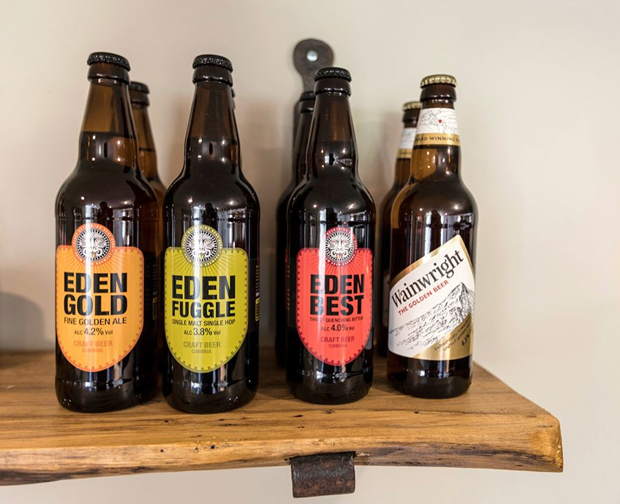 Local beer & spirits to buy from the Honesty Bar