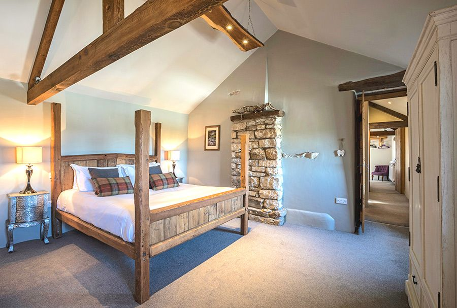 Master bedroom in Angel Barn