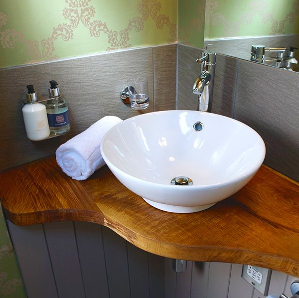 Handcrafted basin stand