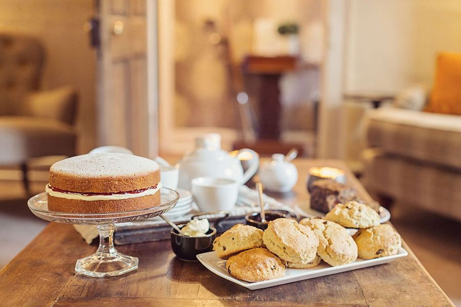 Add some scones to the complimentary home made cake and stay in for afternoon tea